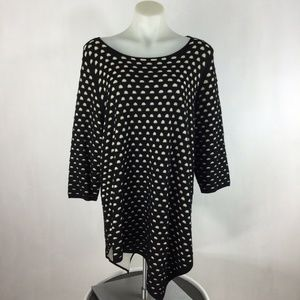 Chelsea & Theodore Sweater Black Gold Dots